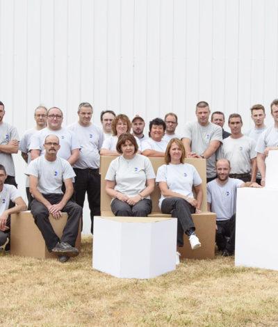 tallineau emballage équipe de production
